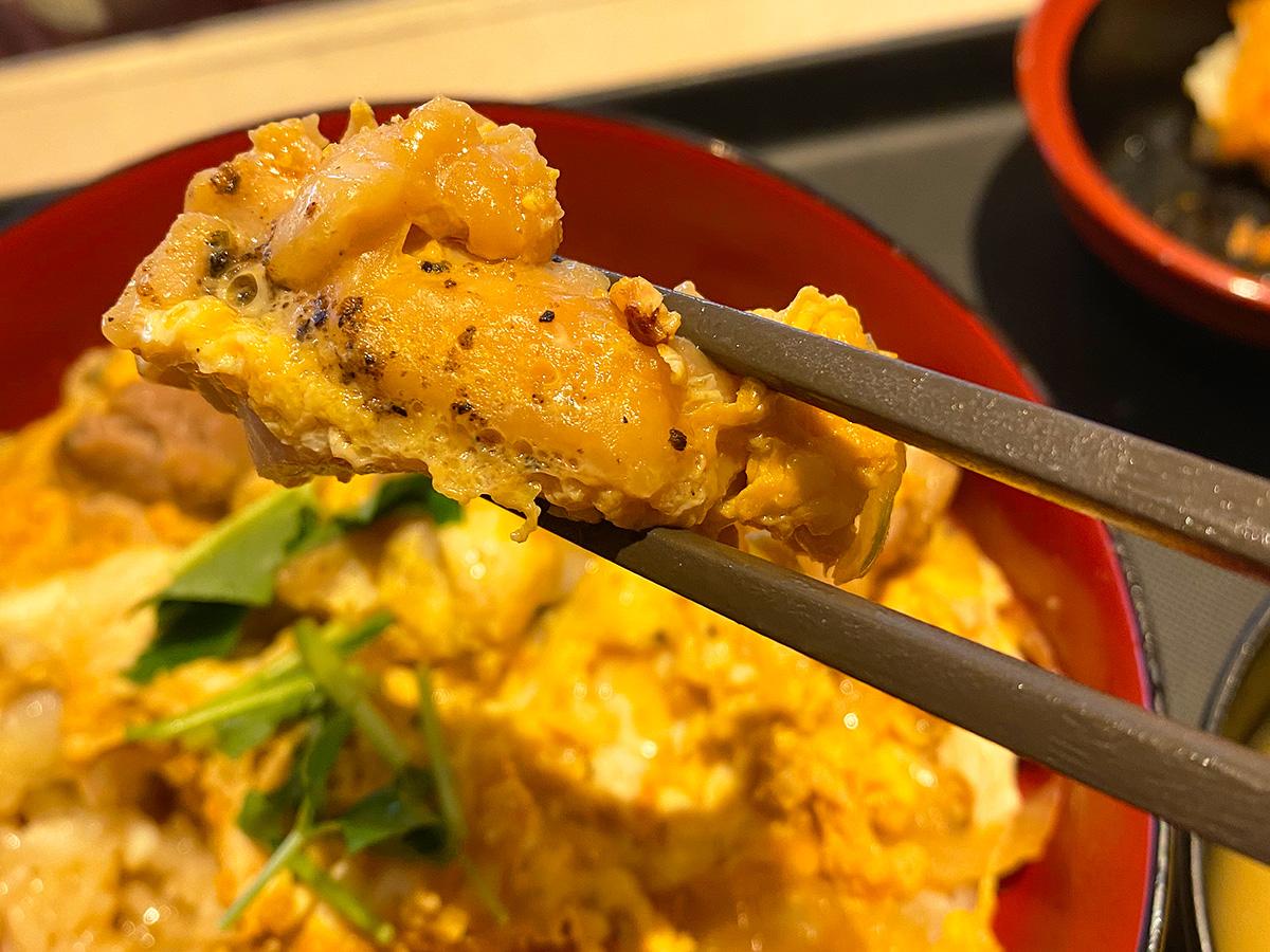 「松のや 清須店」の得朝あんかけふわふわ玉子丼セット @清須市西批杷島