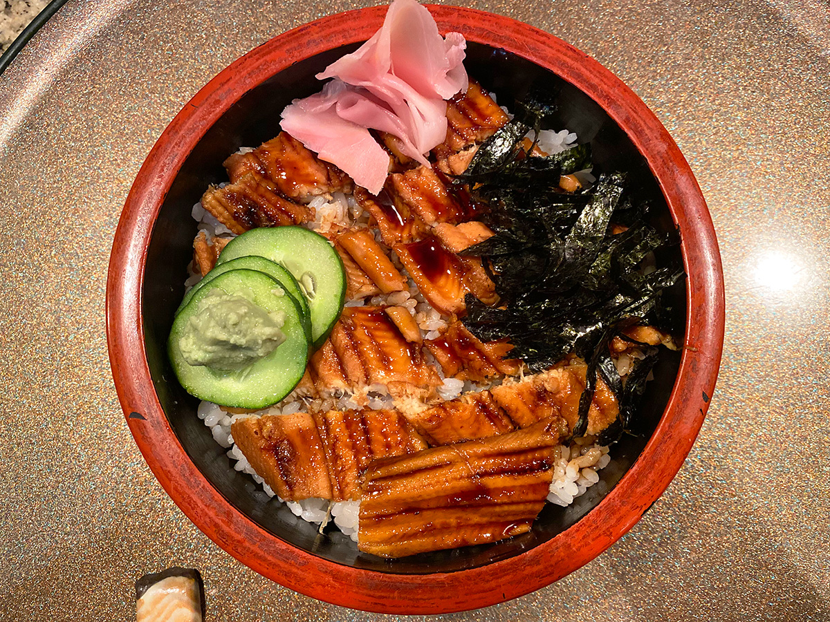 「すし 松前」の穴子丼 @名古屋市西区栄生