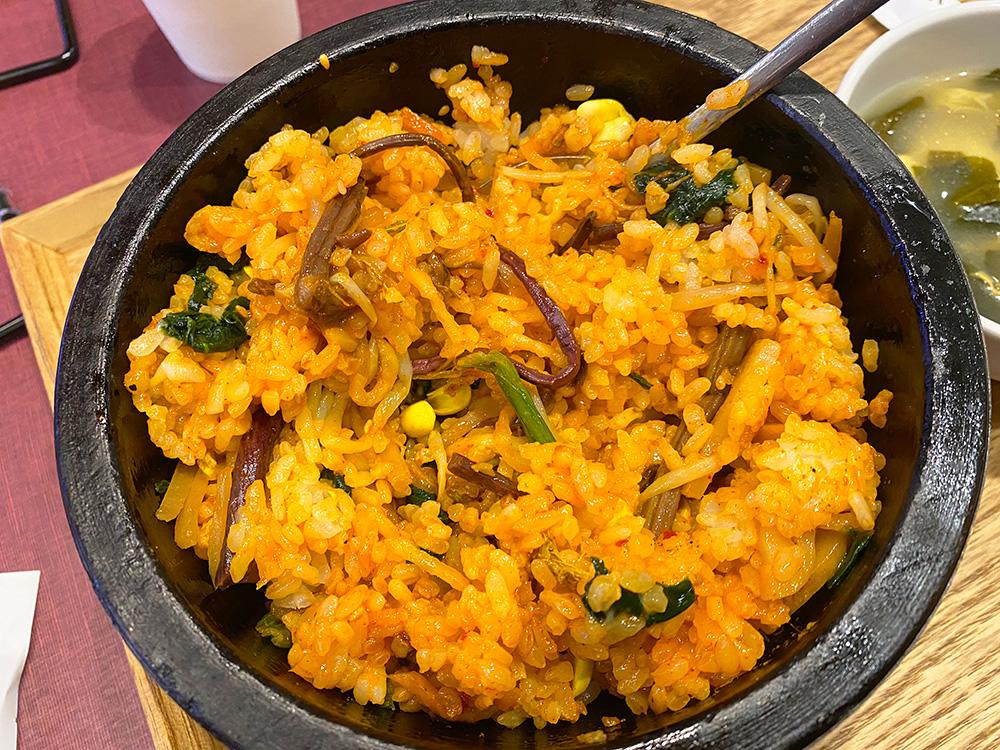 「韓美膳」の石焼ビビンバ @名古屋市西区