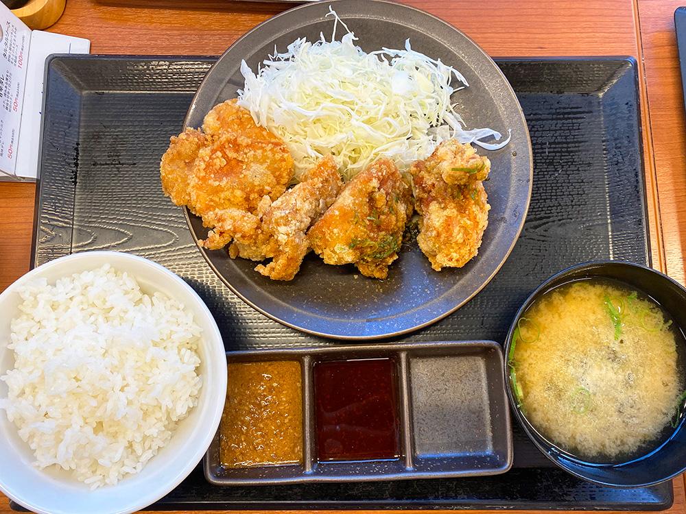 「からやま 名古屋太平通店」の合盛り定食 @名古屋市中川区太平通